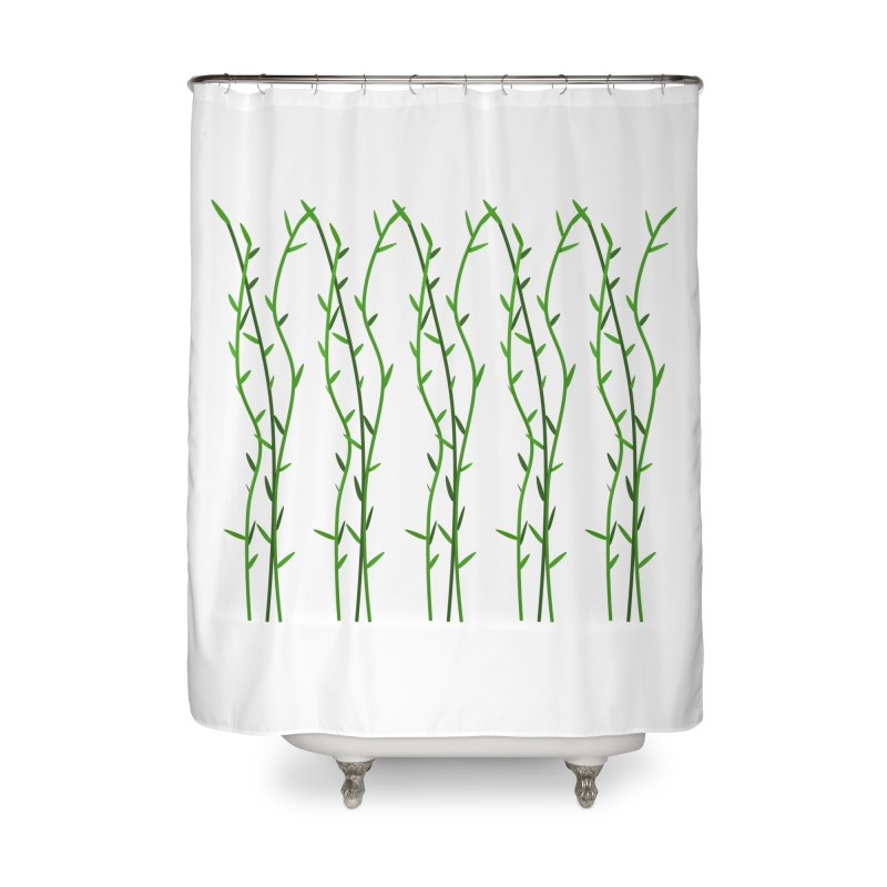 Bamboo Pattern Home Shower Curtain by Me&My3D