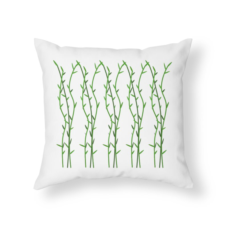 Bamboo Pattern Home Throw Pillow by Me&My3D