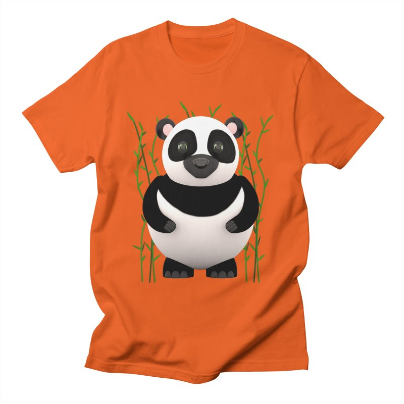 Cartoon Panda Among Bamboos Men's T-Shirt by Me&My3D