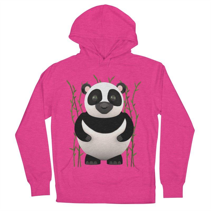 Cartoon Panda Among Bamboos Women's Pullover Hoody by Me&My3D