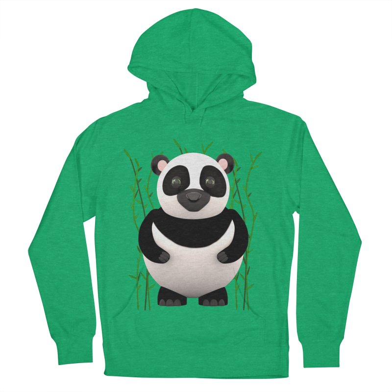 Cartoon Panda Among Bamboos Men's French Terry Pullover Hoody by Me&My3D