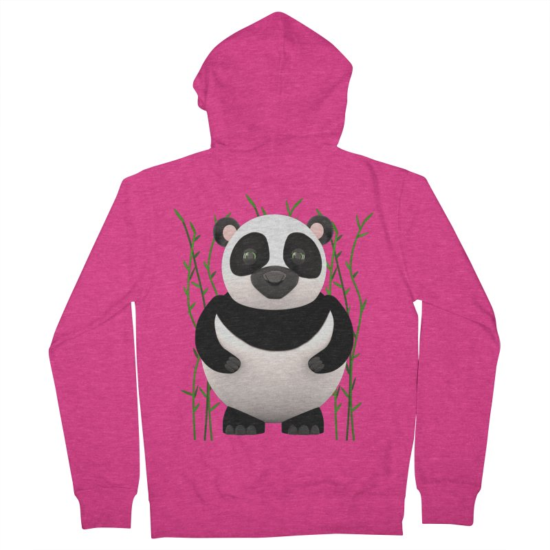 Cartoon Panda Among Bamboos Women's Zip-Up Hoody by Me&My3D