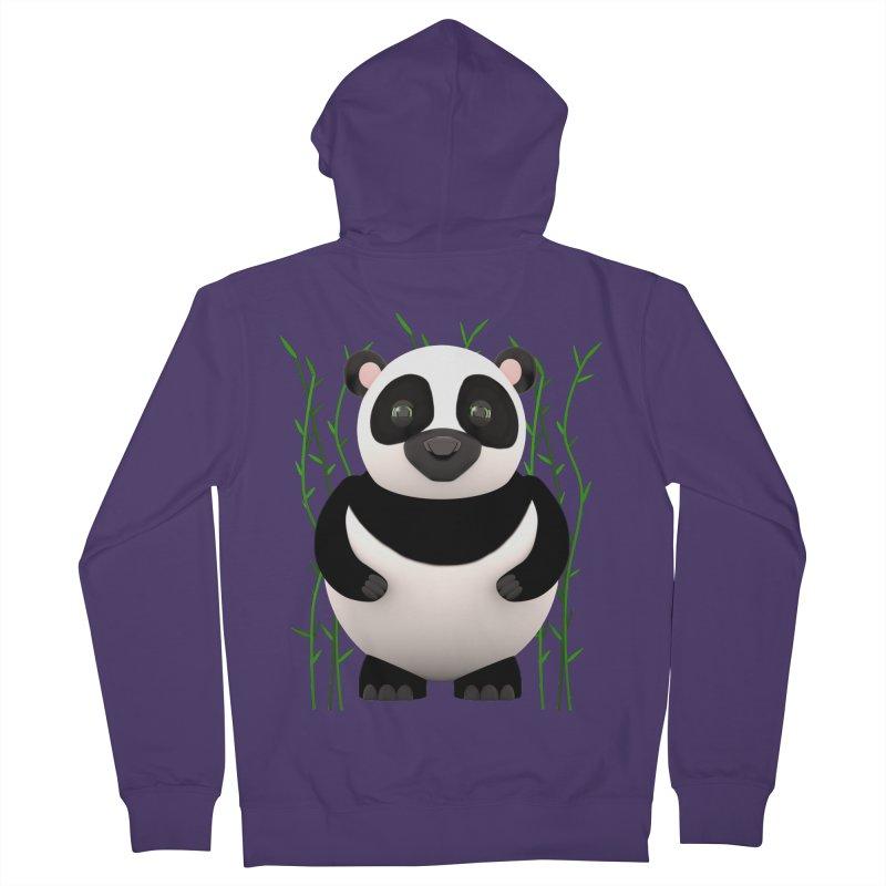 Cartoon Panda Among Bamboos Women's French Terry Zip-Up Hoody by Me&My3D
