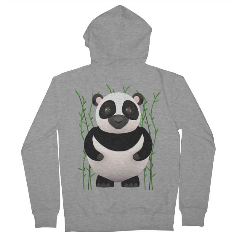 Cartoon Panda Among Bamboos Men's French Terry Zip-Up Hoody by Me&My3D
