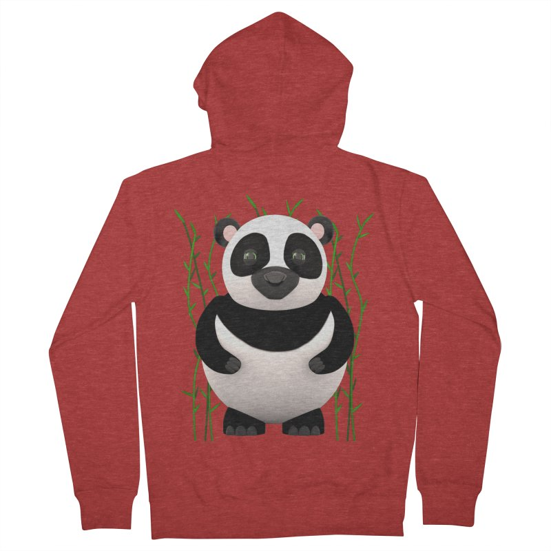 Cartoon Panda Among Bamboos Men's Zip-Up Hoody by Me&My3D
