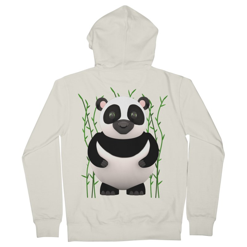 Cartoon Panda Among Bamboos Men's Zip-Up Hoody by Me&My3D