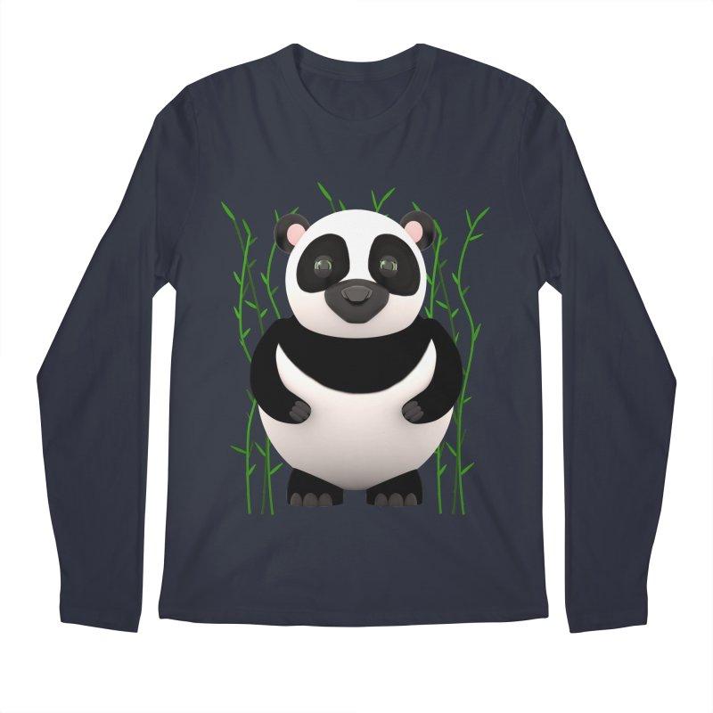 Cartoon Panda Among Bamboos Men's Regular Longsleeve T-Shirt by Me&My3D