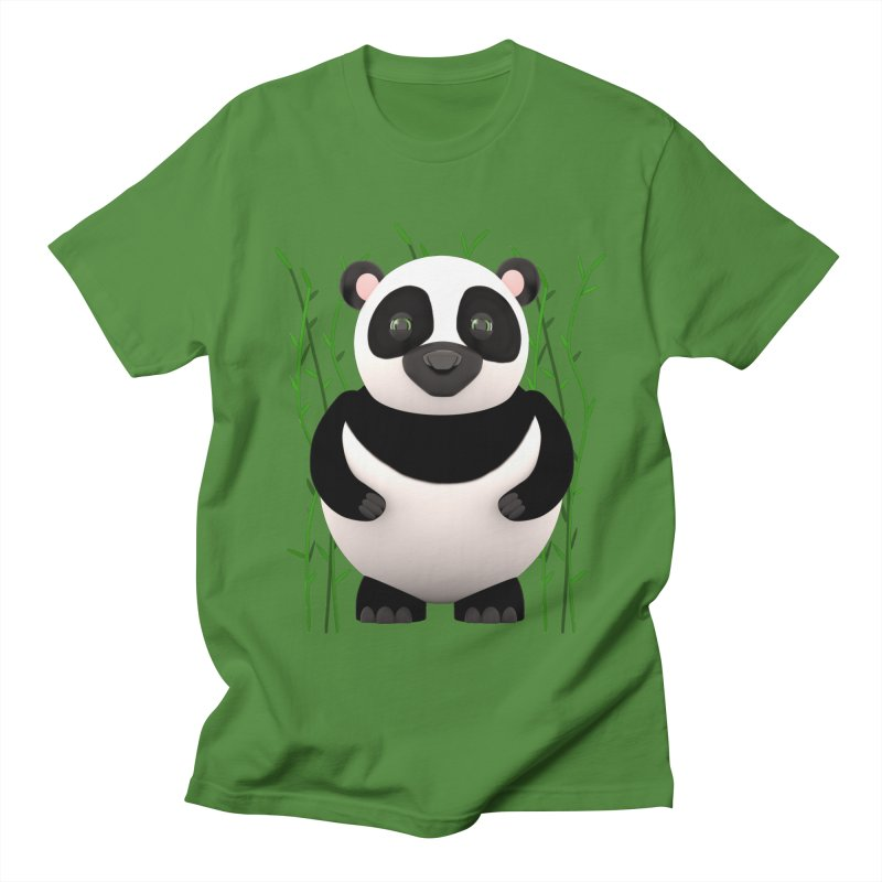 Cartoon Panda Among Bamboos Women's Regular Unisex T-Shirt by Me&My3D