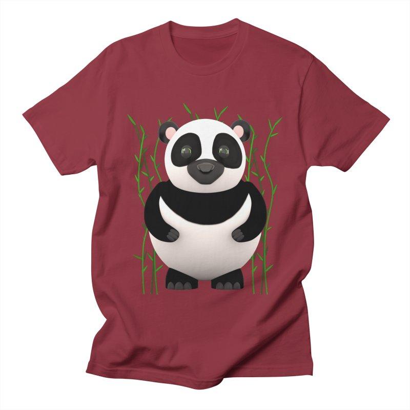Cartoon Panda Among Bamboos Men's Regular T-Shirt by Me&My3D