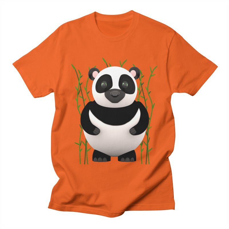Cartoon Panda Among Bamboos Women's Unisex T-Shirt by Me&My3D