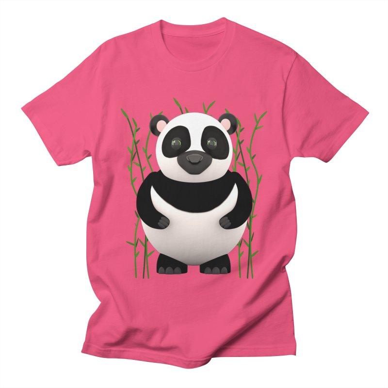 Cartoon Panda Among Bamboos Women's Regular Unisex T-Shirt by Me&My3D