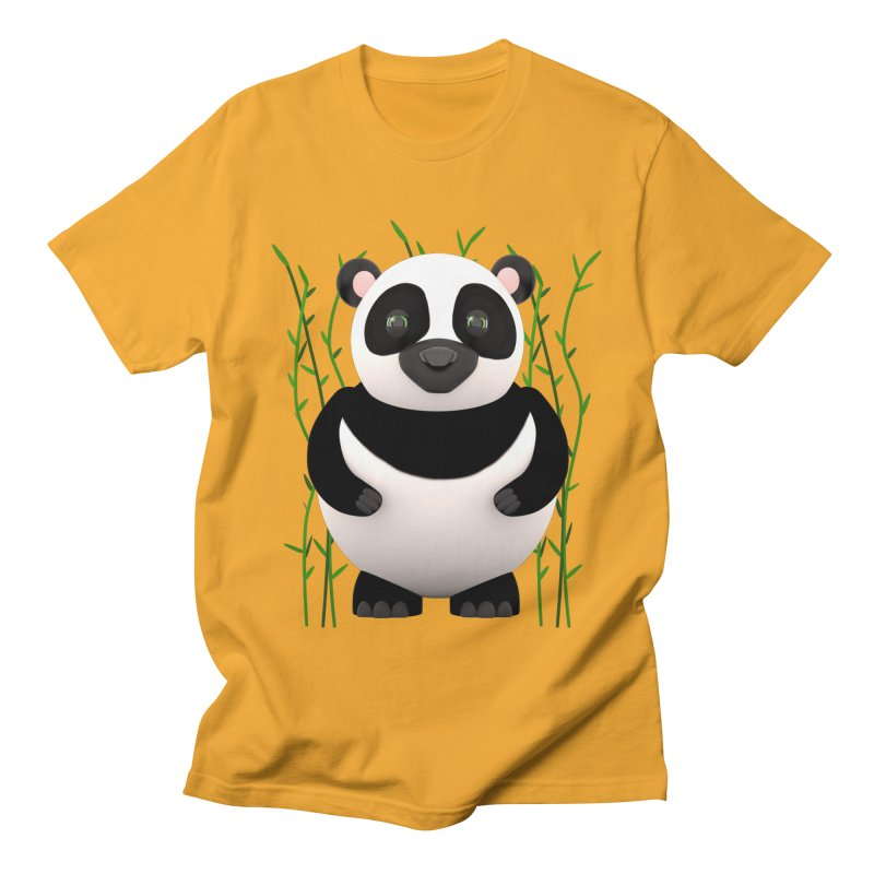 Cartoon Panda Among Bamboos Men's Regular T-Shirt by Me&My3D
