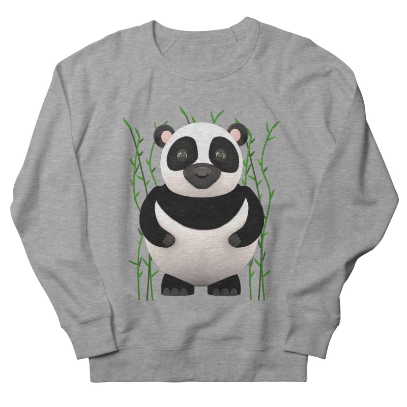 Cartoon Panda Among Bamboos Women's French Terry Sweatshirt by Me&My3D