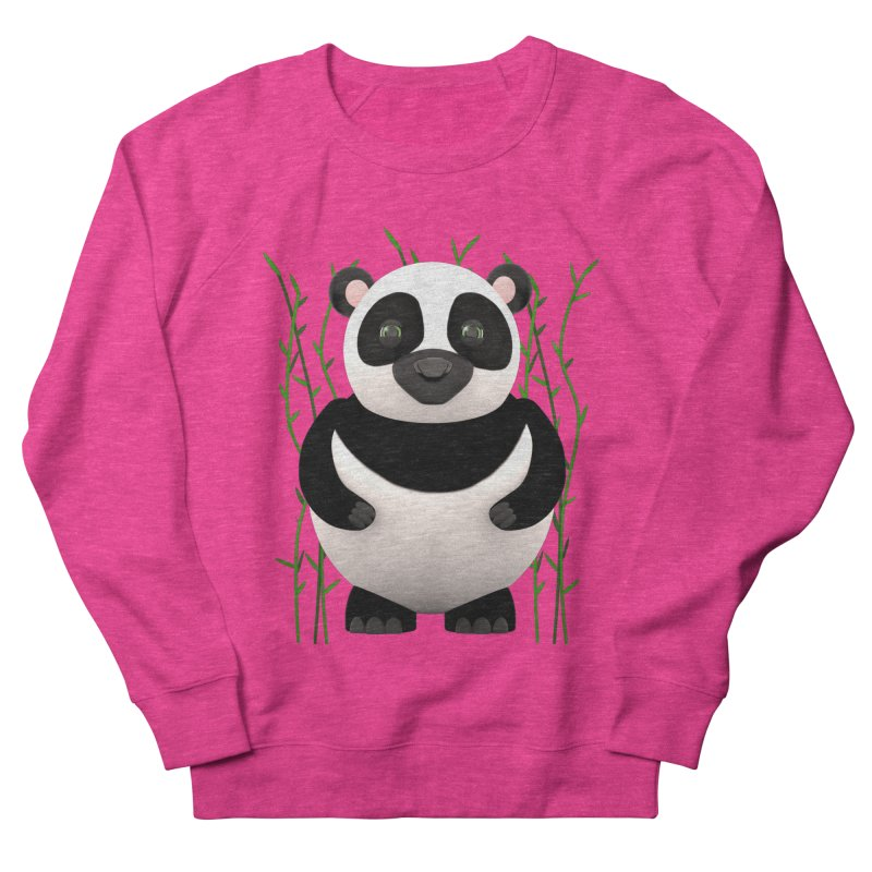 Cartoon Panda Among Bamboos Men's French Terry Sweatshirt by Me&My3D
