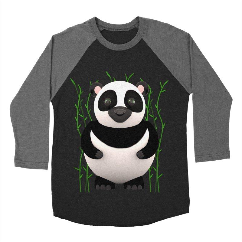 Cartoon Panda Among Bamboos Women's Baseball Triblend T-Shirt by Me&My3D