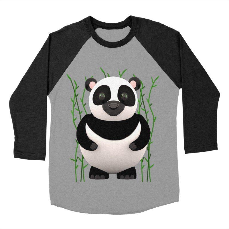Cartoon Panda Among Bamboos Men's Baseball Triblend Longsleeve T-Shirt by Me&My3D