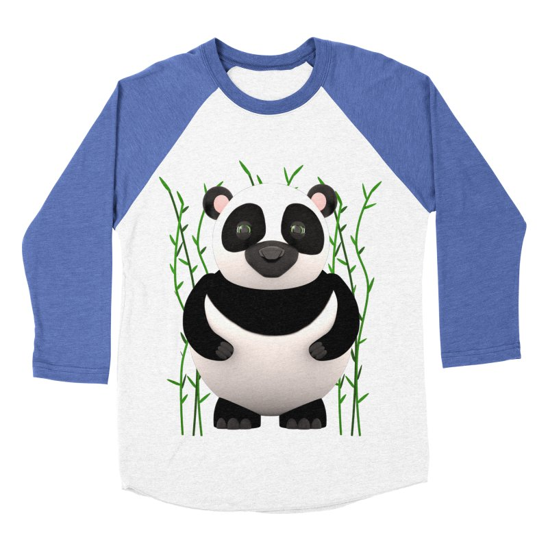 Cartoon Panda Among Bamboos Men's Baseball Triblend T-Shirt by Me&My3D
