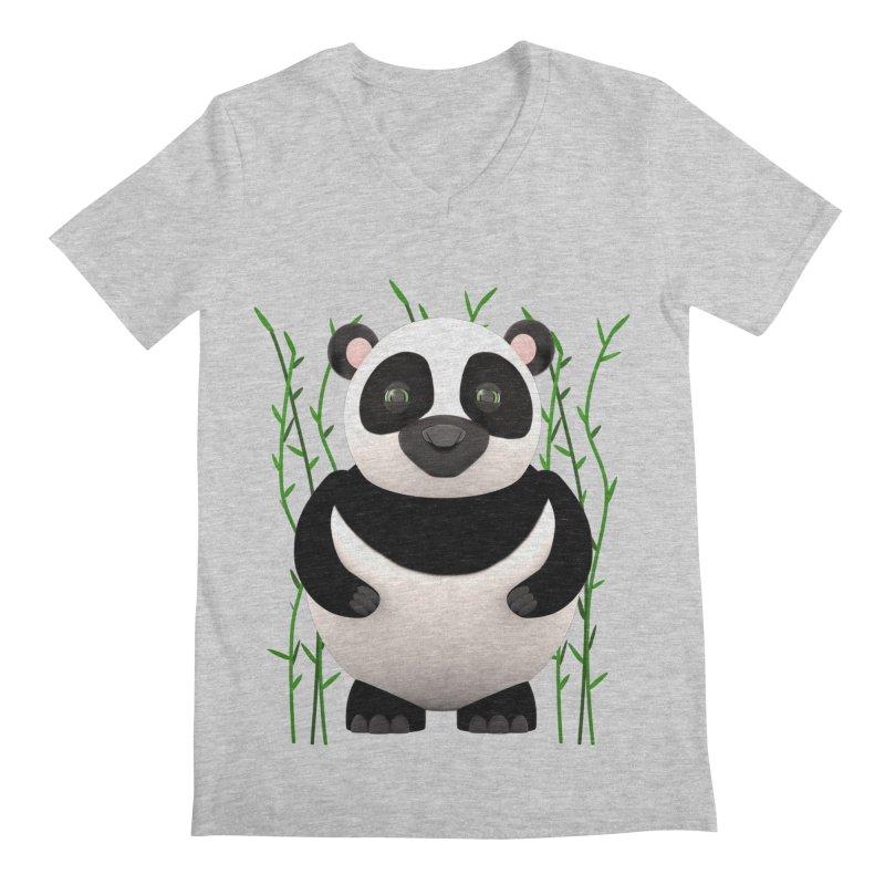 Cartoon Panda Among Bamboos Men's V-Neck by Me&My3D