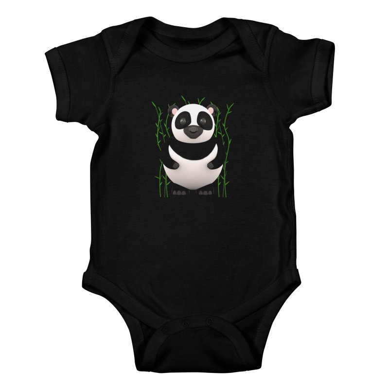 Cartoon Panda Among Bamboos Kids Baby Bodysuit by Me&My3D