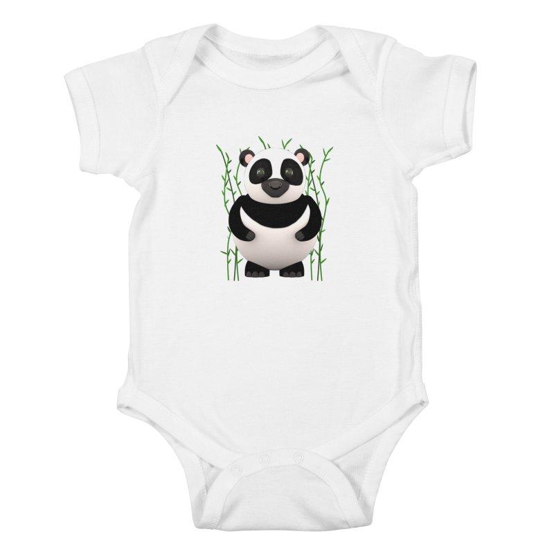 Cartoon Panda Among Bamboos Kids Baby Bodysuit by Me&My3D
