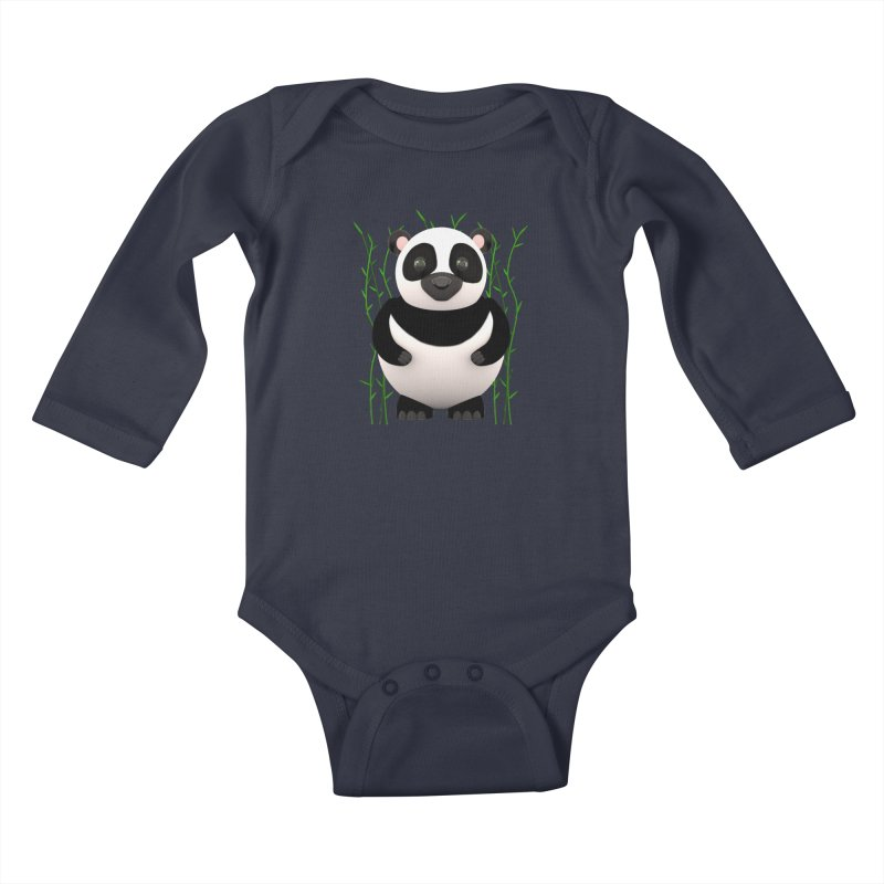 Cartoon Panda Among Bamboos Kids Baby Longsleeve Bodysuit by Me&My3D