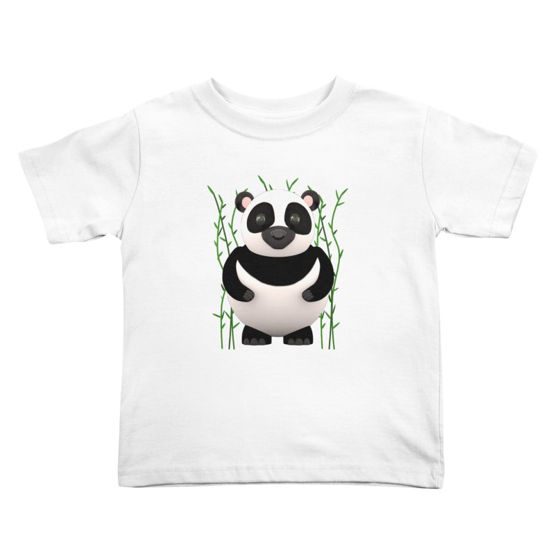 Cartoon Panda Among Bamboos Kids Toddler T-Shirt by Me&My3D