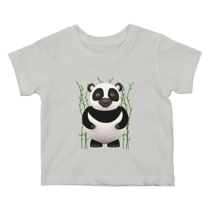 Cartoon Panda Among Bamboos Kids Baby T-Shirt by Me&My3D