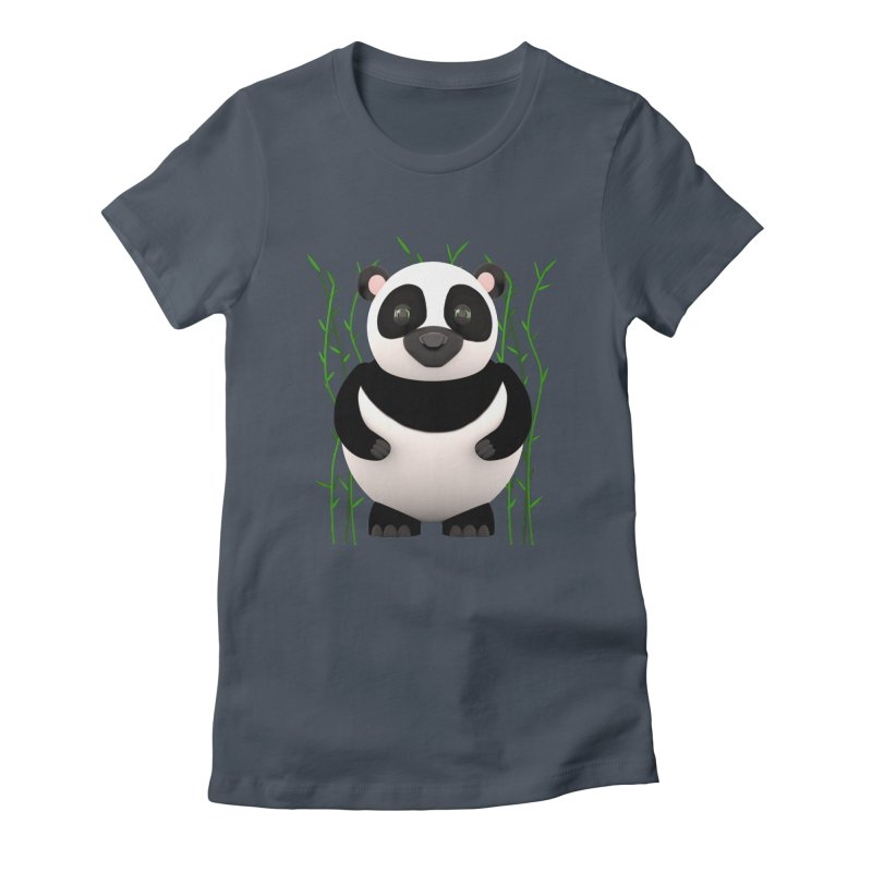 Cartoon Panda Among Bamboos Women's T-Shirt by Me&My3D