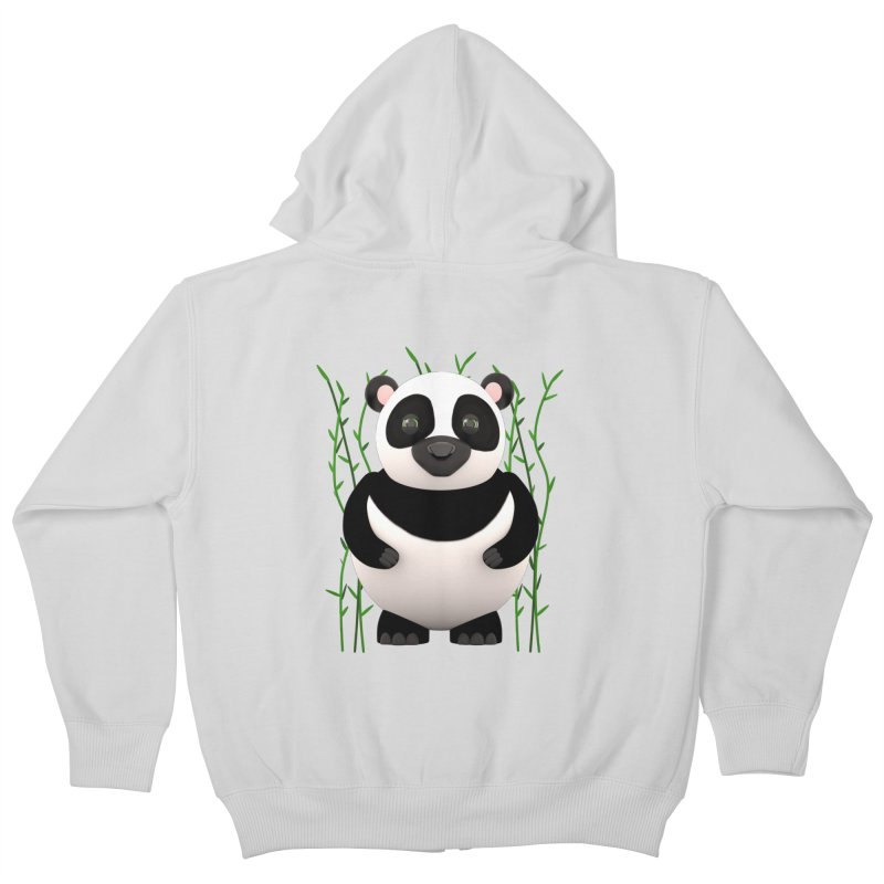 Cartoon Panda Among Bamboos Kids Zip-Up Hoody by Me&My3D