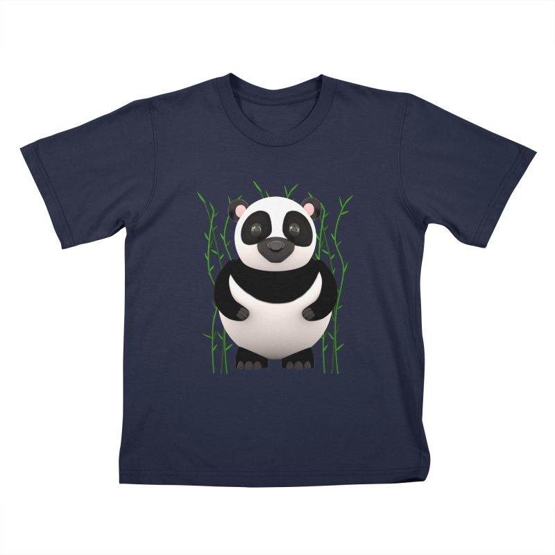 Cartoon Panda Among Bamboos Kids Toddler T-Shirt by Me&My3D