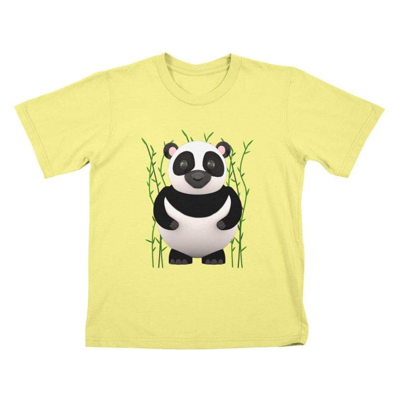 Cartoon Panda Among Bamboos Kids T-shirt by Me&My3D