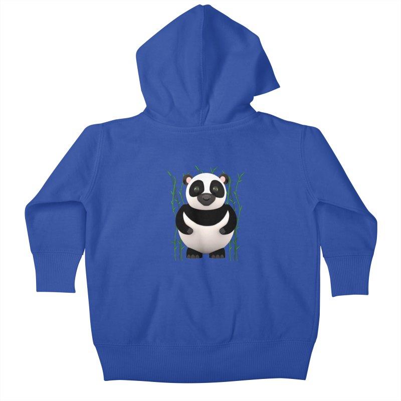 Cartoon Panda Among Bamboos Kids Baby Zip-Up Hoody by Me&My3D