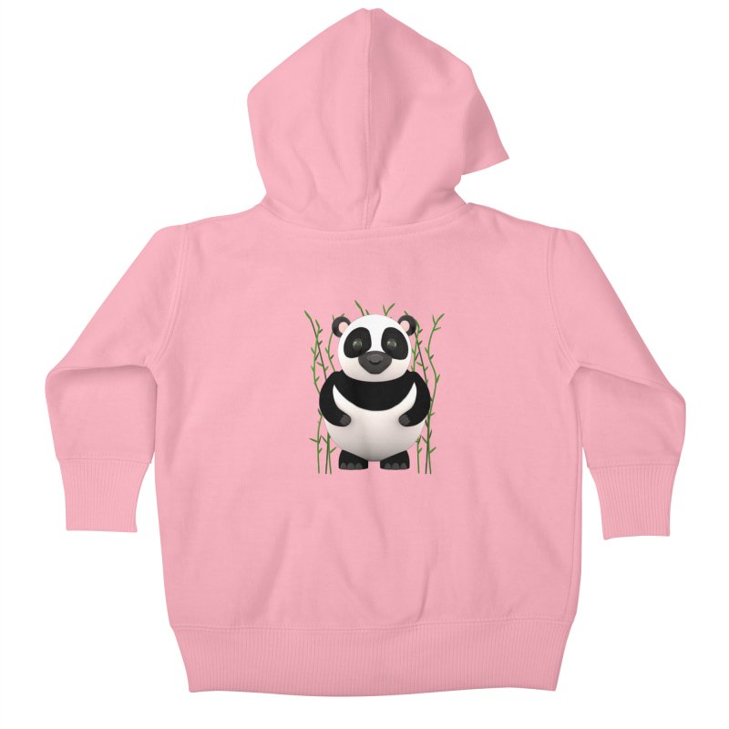 Cartoon Panda Among Bamboos Kids Baby Zip-Up Hoody by Me&My3D