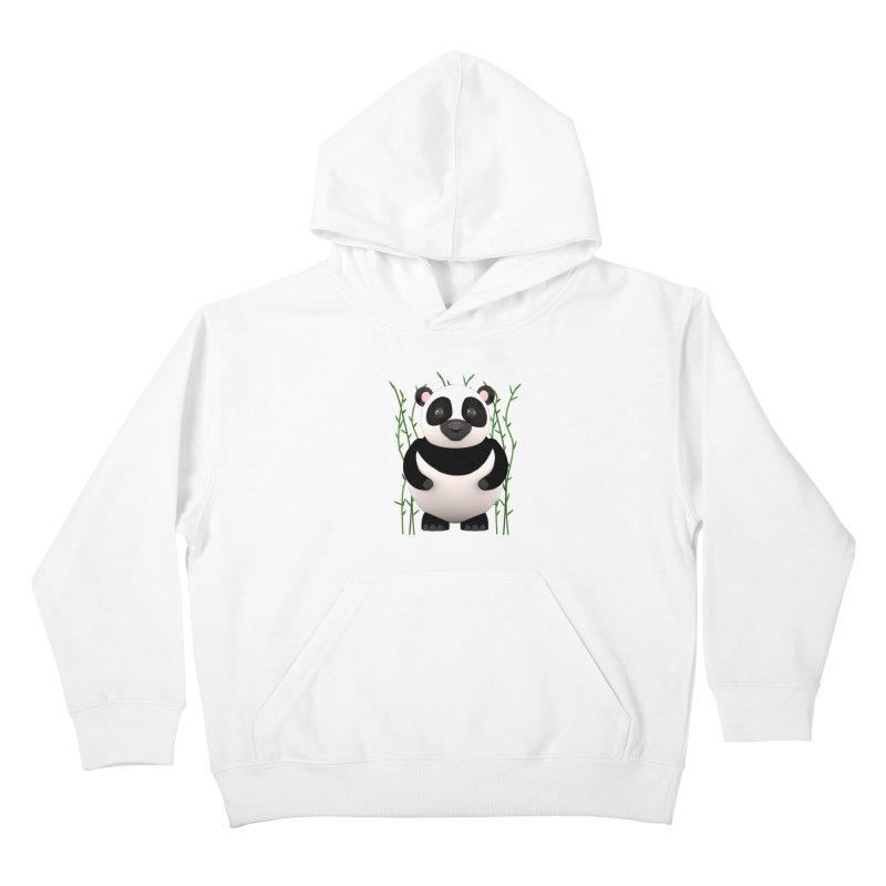 Cartoon Panda Among Bamboos Kids Pullover Hoody by Me&My3D