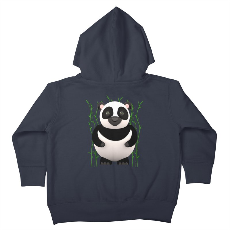 Cartoon Panda Among Bamboos Kids Toddler Zip-Up Hoody by Me&My3D