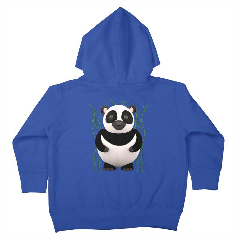 Cartoon Panda Among Bamboos Kids Toddler Zip-Up Hoody by Me&My3D