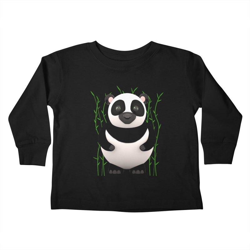 Cartoon Panda Among Bamboos Kids Toddler Longsleeve T-Shirt by Me&My3D