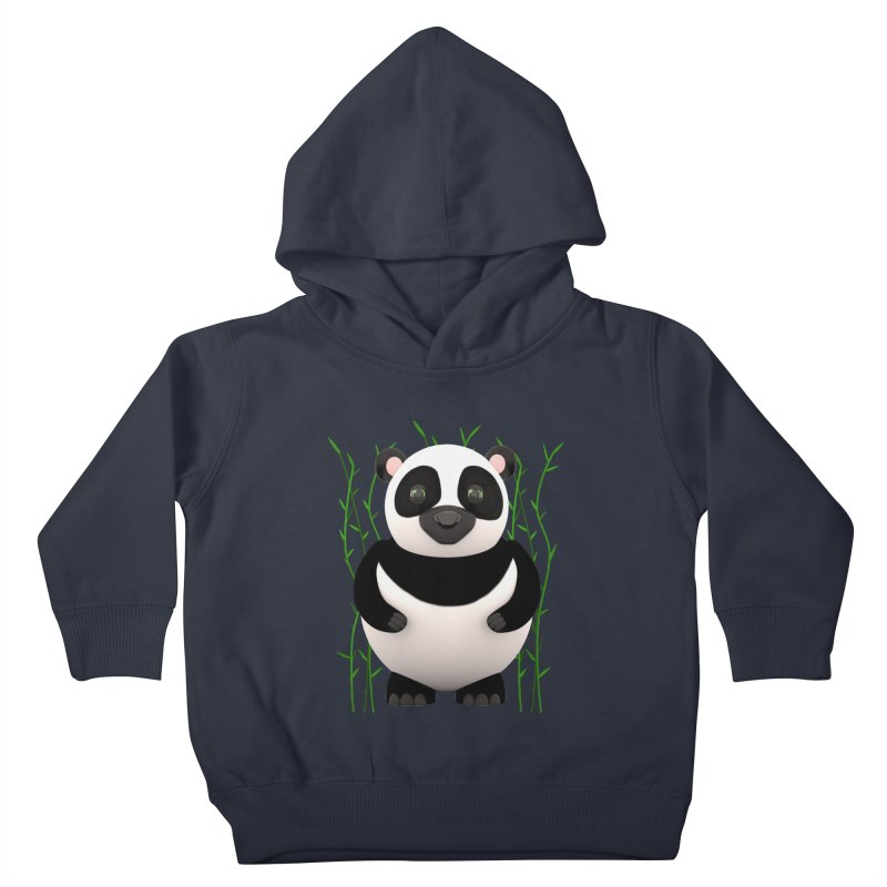 Cartoon Panda Among Bamboos Kids Toddler Pullover Hoody by Me&My3D