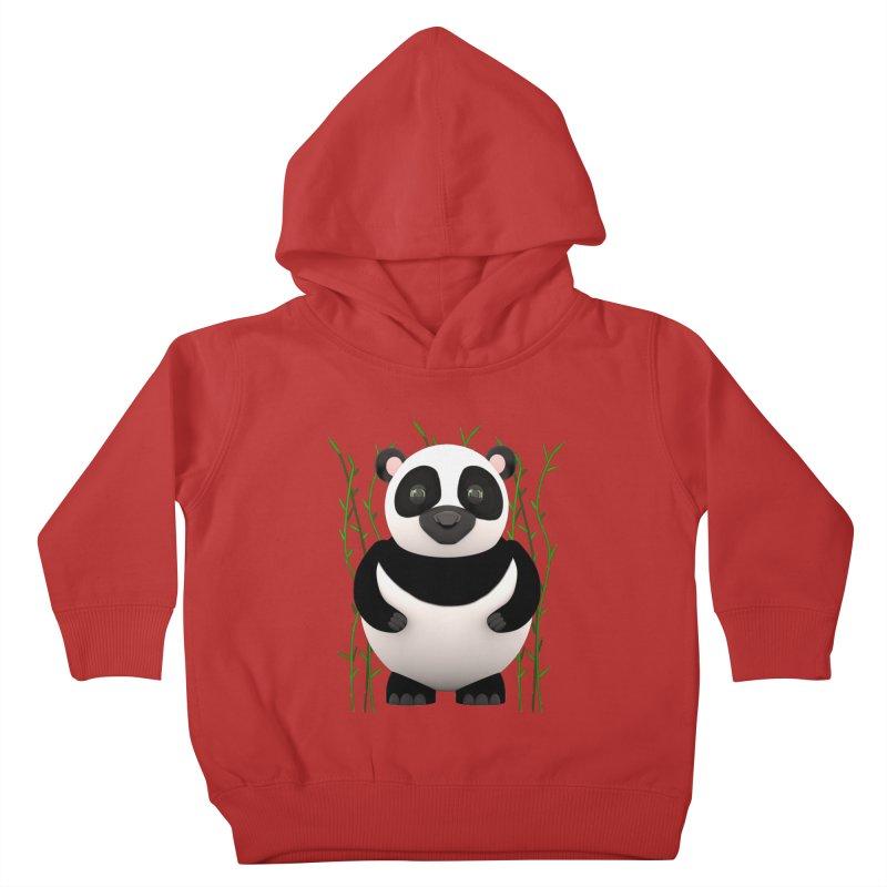 Cartoon Panda Among Bamboos Kids Toddler Pullover Hoody by Me&My3D