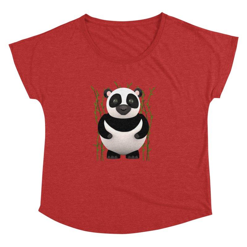 Cartoon Panda Among Bamboos Women's Dolman by Me&My3D