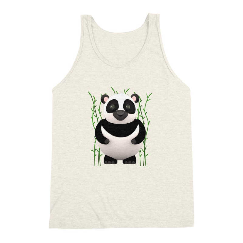 Cartoon Panda Among Bamboos Men's Triblend Tank by Me&My3D