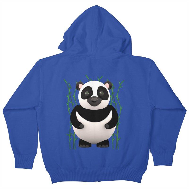Cartoon Panda Among Bamboos Kids Zip-Up Hoody by Me&My3D