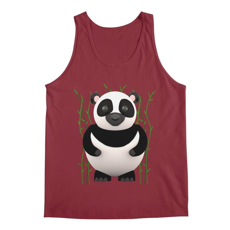 Cartoon Panda Among Bamboos Men's Regular Tank by Me&My3D