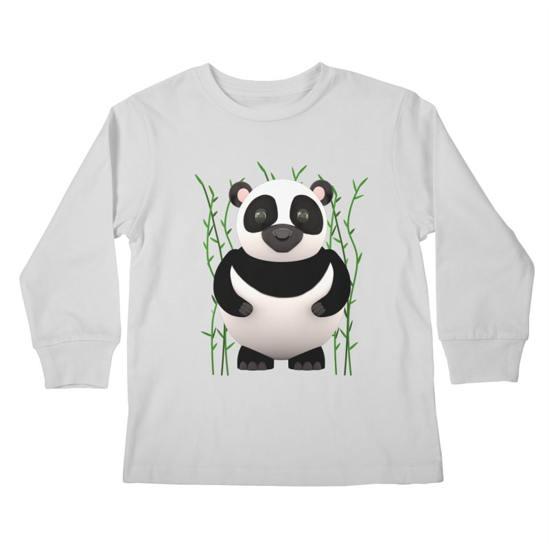 Cartoon Panda Among Bamboos Kids Longsleeve T-Shirt by Me&My3D