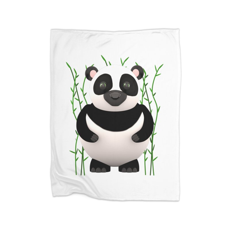 Cartoon Panda Among Bamboos Home Fleece Blanket Blanket by Me&My3D