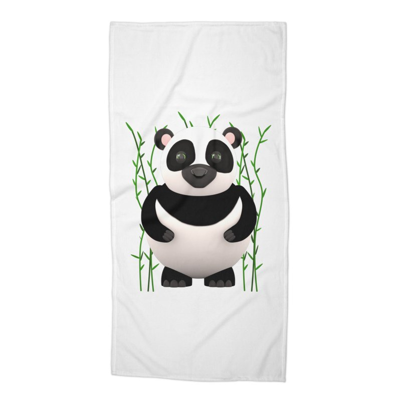 Cartoon Panda Among Bamboos Accessories Beach Towel by Me&My3D