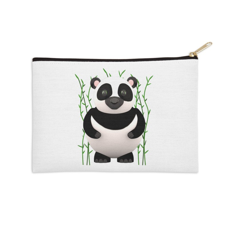 Cartoon Panda Among Bamboos Accessories Zip Pouch by Me&My3D