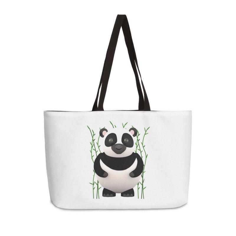 Cartoon Panda Among Bamboos Accessories Weekender Bag Bag by Me&My3D