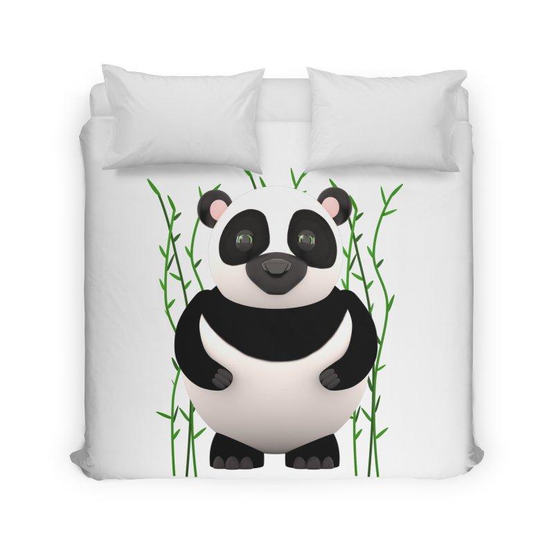 Cartoon Panda Among Bamboos Home Duvet by Me&My3D