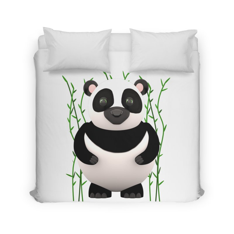 Cartoon Panda Among Bamboos Home Duvet by Me&My3D